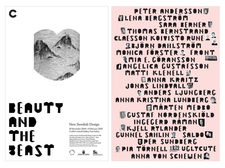 Beauty and the Beast (exhibition and poster, 2005)