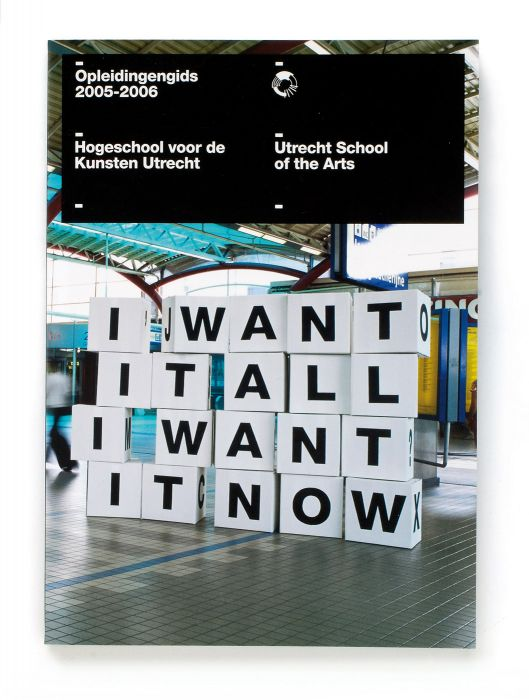 Utrecht School of the Arts, HKU (campaign brochure, 2004-5)