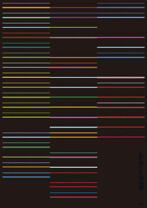 Stripes and lines of the 23 wards, How Very Tokyo (poster)
